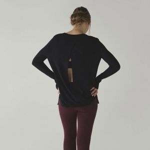 Lululemon Bring It Backbend Open Back Sweater